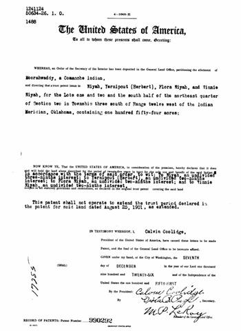 1926landpatent